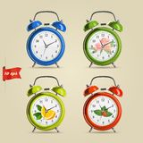 Set vector illustration of realistic colorful Stock Photography