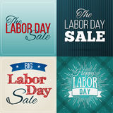 Set of Vector Illustrations Labor Day a national holiday of the United States. American Happy Labor Day design poster Stock Photo