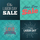 Set of Vector Illustrations Labor Day a national holiday of the United States. American Happy Labor Day design poster Stock Image