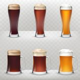 A set of vector illustrations in a realistic style of mugs royalty free illustration