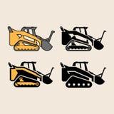 Set of vector illustrations Supertrak. Tractor stock illustration