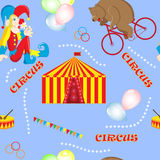 Set of vector illustrations on the theme of a circus bear Royalty Free Stock Photography