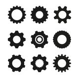 Set of vector image machine gears and transmission parts. Isolated stock illustration