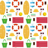 Set of vector images - beach accessories Royalty Free Stock Photography