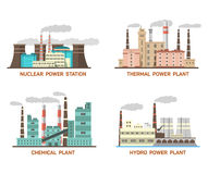 Set of vector industrial flat illustration of Stock Photos