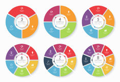 Set of vector infographic circle templates Stock Photography