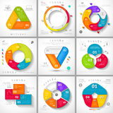 Set of vector infographic. Stock Images