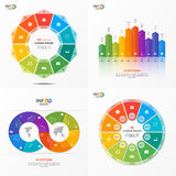 Set of vector infographic 10 options templates Stock Photography