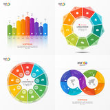 Set of vector infographic 9 options templates Stock Images