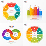 Set of vector infographic 6 options templates Royalty Free Stock Images