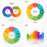 Set of vector infographic 8 options templates Stock Photos
