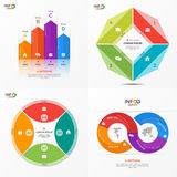 Set of vector infographic 4 options templates Stock Image