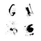 Set of vector ink grunge brush. Icon, Logo, Design elements royalty free illustration