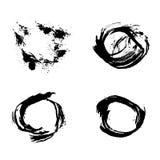 Set of vector ink grunge brush. Icon, Logo, Design elements vector illustration