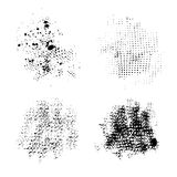 Set of vector ink grunge brush strokes. Stock Image