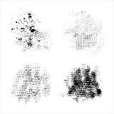 Set of vector ink grunge brush strokes. Stock Image