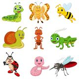 Set of vector insects stock illustration
