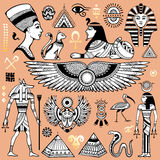 Set of Vector isolated Egypt symbols Stock Image
