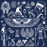 Set of Vector isolated Egypt symbols Royalty Free Stock Image