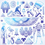 Set of Vector isolated Egypt symbols Stock Photos