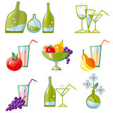 Set of vector kitchen icons Royalty Free Stock Images