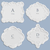Set vector label, vintage frame for an inscription, calligraphic ornament Royalty Free Stock Photo