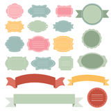 Set of vector labels and banners Royalty Free Stock Image