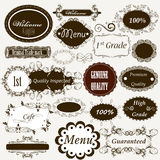 Calligraphic retro elements and page decorations Royalty Free Stock Photos
