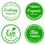 Set vector labels of ecology Stock Image