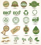 Set vector labels and emblems of ecology and Royalty Free Stock Photos