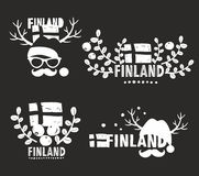Set of vector labels of Finland. Royalty Free Stock Photo