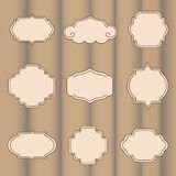 Set of vector labels Royalty Free Stock Images
