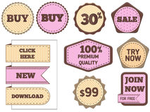 Set of vector labels Royalty Free Stock Photography