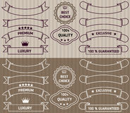 Set of vector labels Royalty Free Stock Image