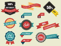 Set of Vector Labels, Stickers and Ribbons royalty free illustration
