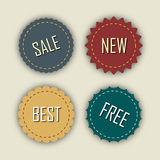 Set of vector labels. Stock Images