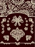 Set of vector lace elements. To create from you greeting cards, invitations, backgrounds. All vector elements you can edit Royalty Free Stock Photography