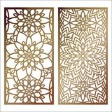 Set of Vector Laser cut panel. Pattern template for decorative p. Anel. Wall panels or partition. Jigsaw die cut ornaments. Lacy cutout silhouette stencils royalty free illustration