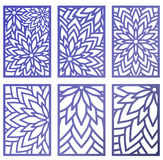 Set of Vector Laser cut panels. Abstract Pattern template for de. Set of Vector Laser cut panels with flowers. Pattern template for decorative panel. Wall vinyl Stock Photo