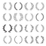 Set of vector laurel wreaths. Stock Photography