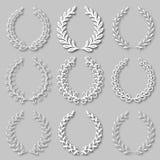 Set of vector laurel wreaths Stock Photography