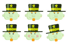 Set of vector leprechauns Stock Photos