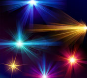 Set of 6 vector light effects Stock Photo