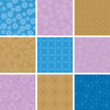 Set of  vector light seamless pattern Stock Photos