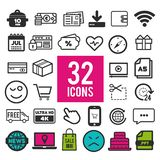 Set vector line icons in flat design with elements for mobile concepts and web apps. Collection modern infographic logo and stock illustration