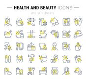 Set Vector Line Icons of Health and Beauty stock illustration