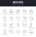 Set Vector Line Icons of Weather. vector illustration