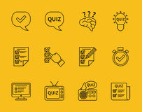 Set of vector line quiz icons Royalty Free Stock Photography