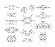 Set of vector linear symbols Royalty Free Stock Image