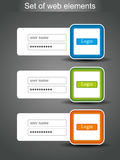 Set of vector login icons Royalty Free Stock Photo
